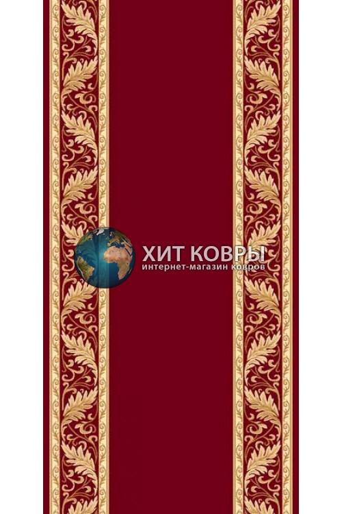 ковер в комнату кремлевский d040 красный 2