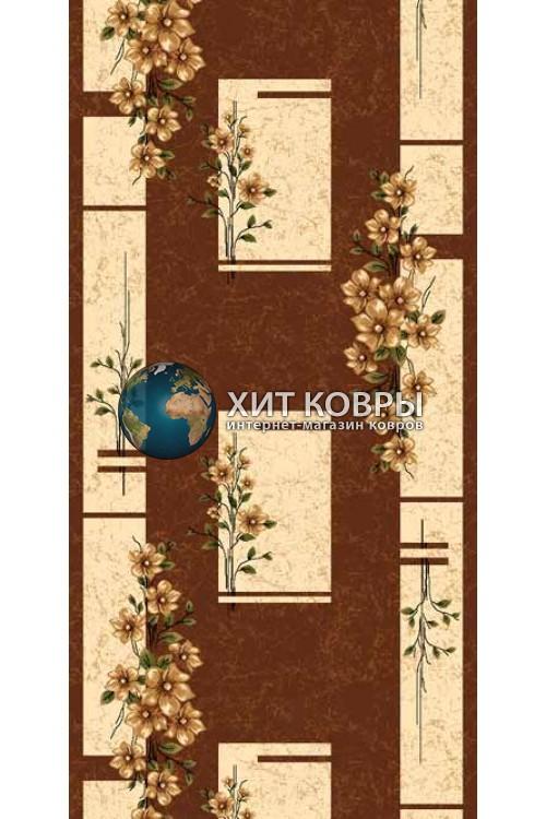 ковер в комнату Runner Da Vinci d024 коричневый