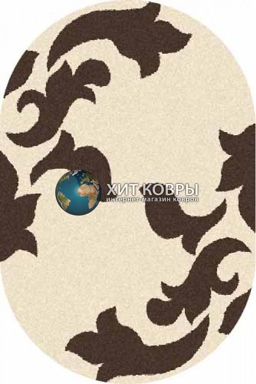 Российский ковер  овальный Platinum t620 кремовый коричневый