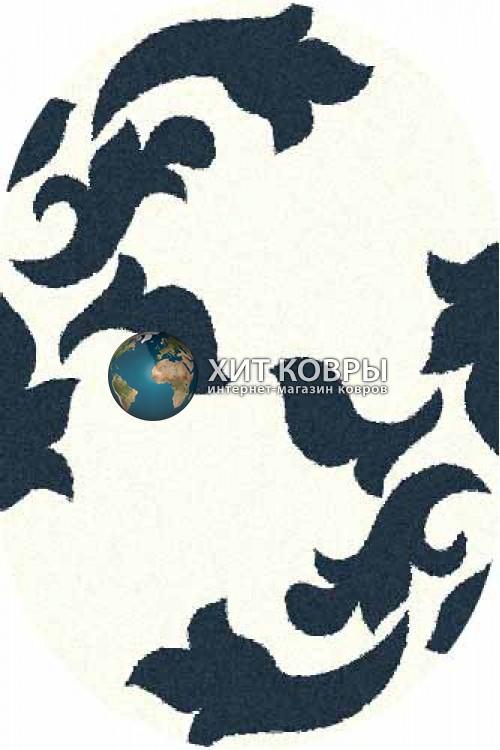 Российский ковер  овальный Platinum t620 natural бирюзовый