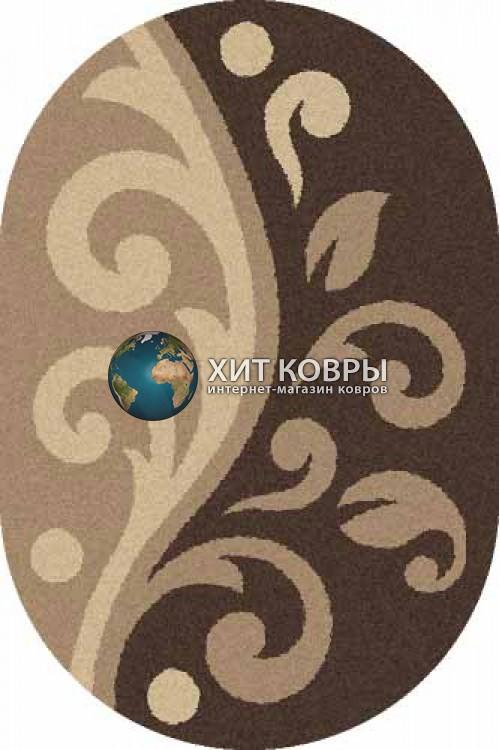 Российский ковер  овальный Platinum t621 d
