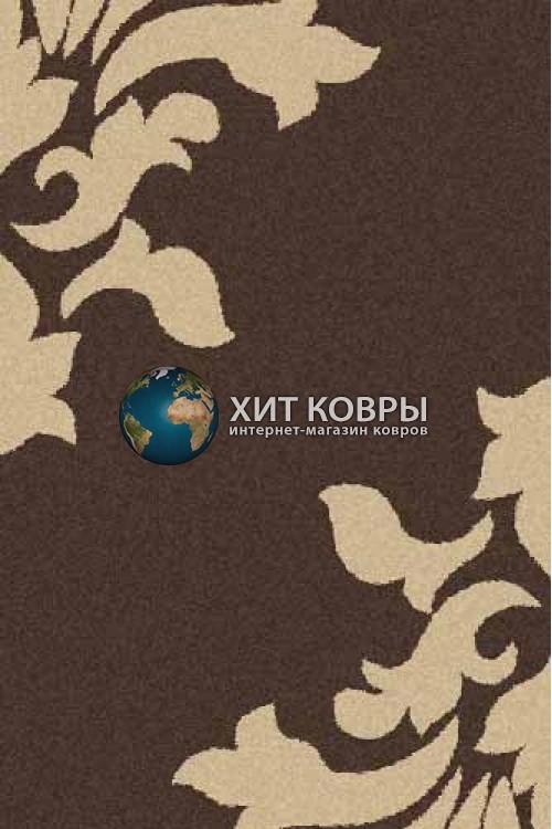 Российский ковер прямоугольный Platinum t620 коричневый бежевый